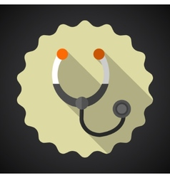 Medical stethoscope flat icon vector