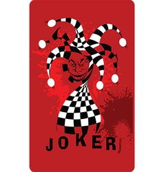 Joker cartoon vector
