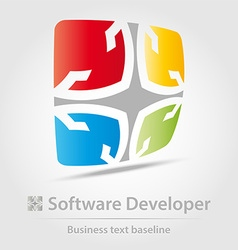 Software developer business icon vector