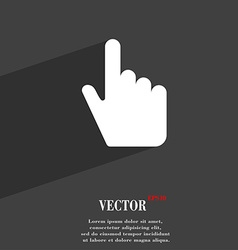 Cursor icon symbol flat modern web design with vector