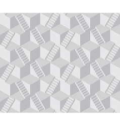 Staircase cube pattern vector