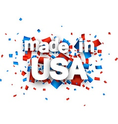 Paper usa confetti sign vector