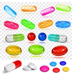 Multicolored capsules vector