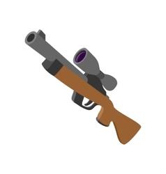 Hunting rifle cartoon icon vector