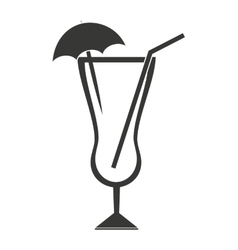 Cocktail with umbrella isolated icon design vector