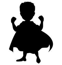 Silhouette of a superhero vector