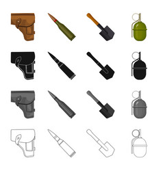a holster of a pistol a fighting cartridge an vector image
