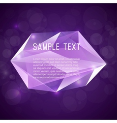 Abstract crystal frame for design vector image vector image