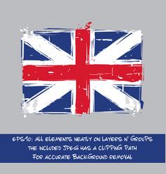 american revolution british flag flat - artistic vector image