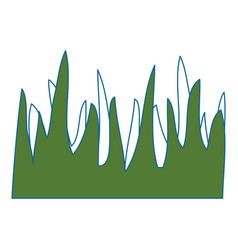 Background grass symbol vector
