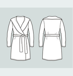 Bathrobe vector
