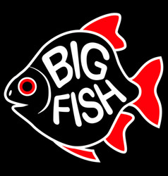big fish background vector image