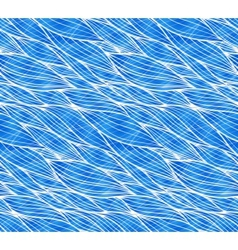 Blue doodle waves seamless pattern vector image vector image