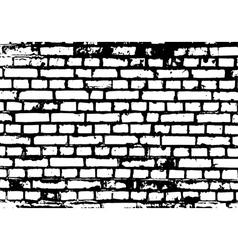 Brick wall detail texture vector image vector image