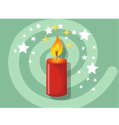 Candle icon christmas vector image