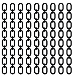 chain set in black vector image vector image