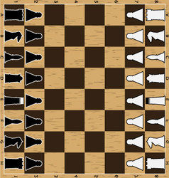Chess board with figure vector