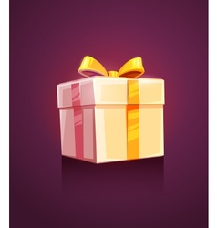 Christmas holiday gift box vector image vector image