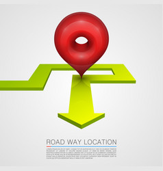 Direction of the arrow navigation path vector