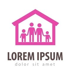 Family logo design template house or home vector