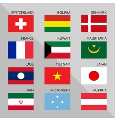 Flags of world flat Set number 05 vector image