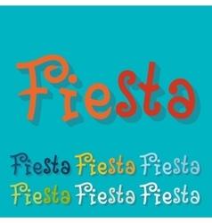Flat design fiesta vector