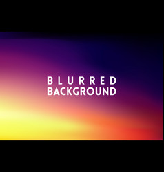 Horizontal wide multicolored blurred background vector