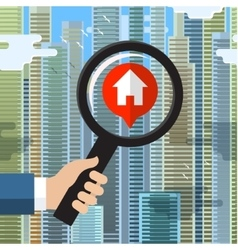 House hunting and searching vector