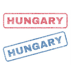 Hungary textile stamps vector