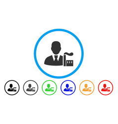 Industry capitalist rounded icon vector
