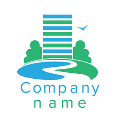 logo for a construction company vector image vector image