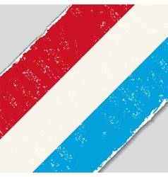 Luxembourg grunge flag vector