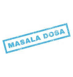 Masala dosa rubber stamp vector