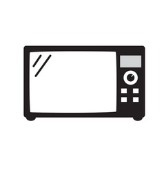 microwave icon isolated on white background vector image vector image