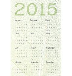 Nature concept 2015 calendar vector