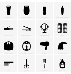 Personal care icons vector image