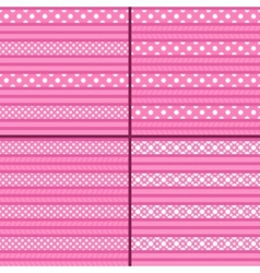 pink polka dot striped pattern vector image