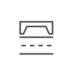 Road scheme line icon vector