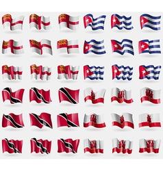 Sark cuba trinidad and tobago gibraltar set of 36 vector