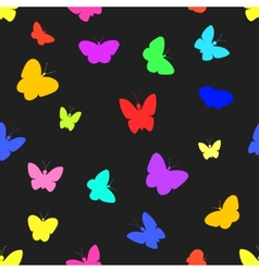 Seamless of butterflies vector image