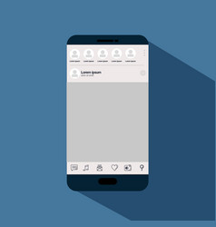 smartphone with template icon vector image