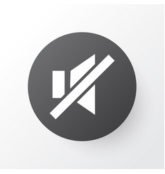 Sound off icon symbol premium quality isolated vector