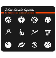 sport balls icon set vector image vector image