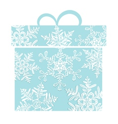 Stylized blue gift box vector