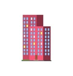 Tall Condominium Building vector image vector image