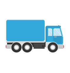 truck for transportation cargo vector image