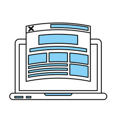 website and laptop vector image