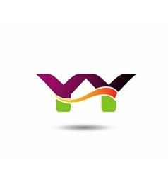 YY Logo vector image