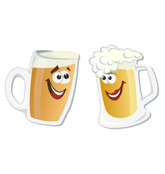 Cartoon smiling hero glass of beer vector