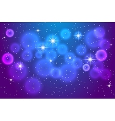 Abstract blue background with shining stars vector image